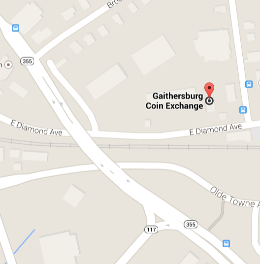 Gaithersburg Coin Exchange Location